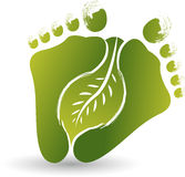 Foot leaf logo Stock Photo