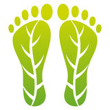 Foot leaf print. Illustration of foot leaf print design isolated on white background Stock Images