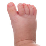Foot of a little baby Stock Image
