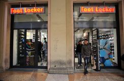 FOOT LOCKER SHOE STORE Royalty Free Stock Photos