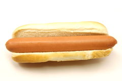 Foot Long Hot Dog with Bun Royalty Free Stock Images