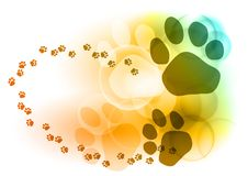 Foot mark Royalty Free Stock Images