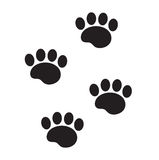 Foot marks of an animal icon, flat, cartoon style. Traces of dog paw isolated on white background. Vector illustration. Clip-art vector illustration