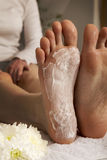 Foot mask Royalty Free Stock Images