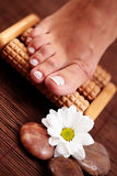 Foot massage Stock Images