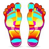Foot massage stock illustration