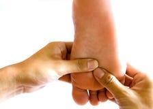 Foot massage. royalty free stock photos