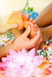 Foot massage. Royalty Free Stock Images