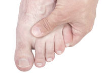 Foot massage. Stock Photo