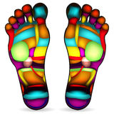 Foot massage chart vector illustration