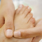 Foot Massage Close-up Stock Photo