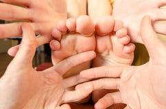 Foot massage Stock Photography