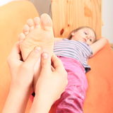 Foot massage Stock Photos