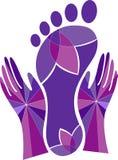 Foot massage logo Royalty Free Stock Photo