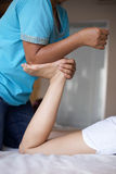 Foot massage Stock Photo
