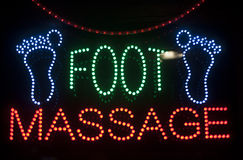 Foot massage sign Royalty Free Stock Photography