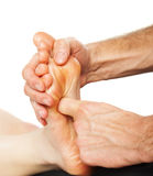 Foot massage and spa foot treatment Royalty Free Stock Image