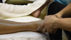 Foot massage. stock footage