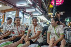 Foot massage in Thaialnd Royalty Free Stock Photos