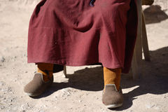 Foot Of Monk In Leh Ladakh Stock Images