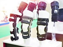 Foot orthoses for knee in store. Foot orthoses for knee joint in store royalty free stock images