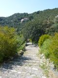 Foot path at a Croatian island Royalty Free Stock Photo