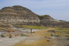 Foot path in Dinosaur Provincial Park Stock Photo