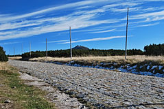 Foot-path in Krkonose Stock Images