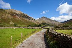 Foot path in Lake district England Stock Images