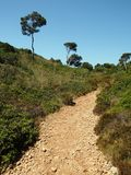 Foot path on mallorca to cala marmols Stock Photo