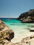 Foot path on mallorca to cala marmols Royalty Free Stock Photos