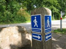 Foot path notice Royalty Free Stock Images
