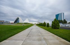 Foot path to Heydar Aliyev Center Stock Photos