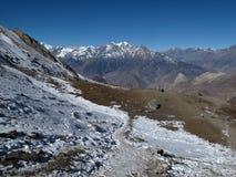 Foot-path to Muktinath, Nepal Stock Image