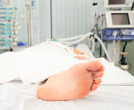 Foot of the patient Stock Photo
