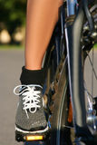 Foot on pedal Royalty Free Stock Photography