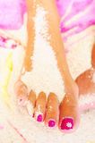Foot and pedicure Stock Images