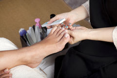Foot pedicure Stock Photography