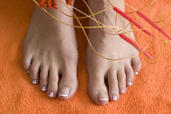 Foot with pedicure Stock Photography