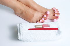 Foot pedicure royalty free stock images