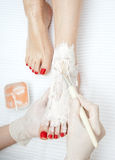 Foot pedicure tretament Royalty Free Stock Photos