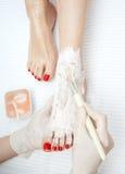 Foot pedicure tretament Royalty Free Stock Photos