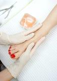 Foot peeling treatment Royalty Free Stock Photos
