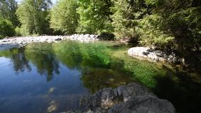 The 30 foot pool at Lynn Canyon.  2. The 30 foot pool at Lynn canyon.During the summer time, many people visit Lynn Canyon in order to relax, have fun, or simply stock video