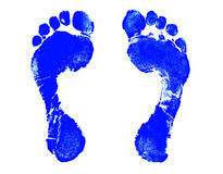 Foot Print. Blue Footprint royalty free illustration