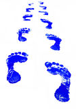 Foot Print. Blue Footprint vector illustration