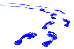 Foot Print. Blue Footprint stock illustration