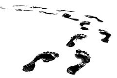 Foot Print. Black Footprint Royalty Free Stock Photos