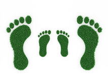 Foot print Concept. 3D Rendered Image Royalty Free Stock Photography