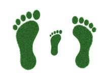 Foot print Concept. 3D Rendered Image Royalty Free Stock Images
